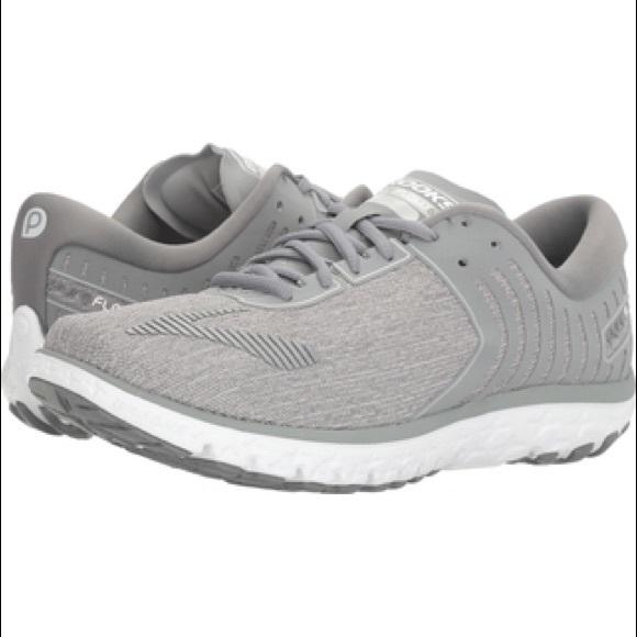 e1994e6632b Brooks Shoes - Brooks Pureflow 6 light grey running shoes size 8